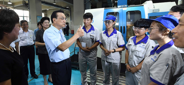 李克强在天津考察职业教育 鼓励