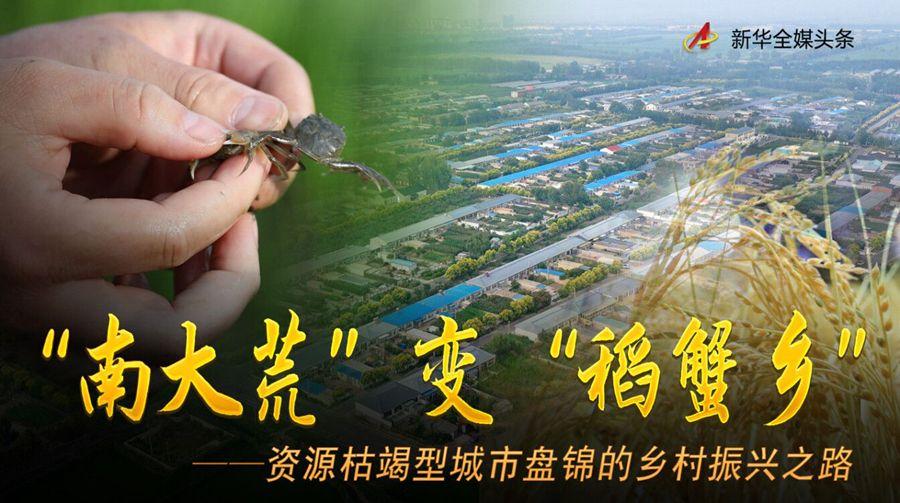 """""""南大荒""""变""""稻蟹乡""""——资源枯竭型城市盘锦的乡村振兴之路"""