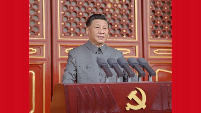慶祝中國共產黨成立100周年大會在天安門廣場隆重舉行 習近平發表重要講話